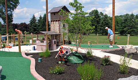 how to build your own mini golf course